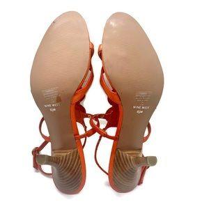 Nine West Shoes - Nine West Orange Robertao Resselini Medallion Heel